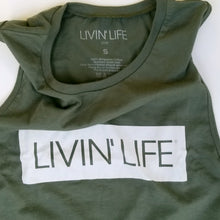Load image into Gallery viewer, Box Signature Muscle Tank (Military Green)