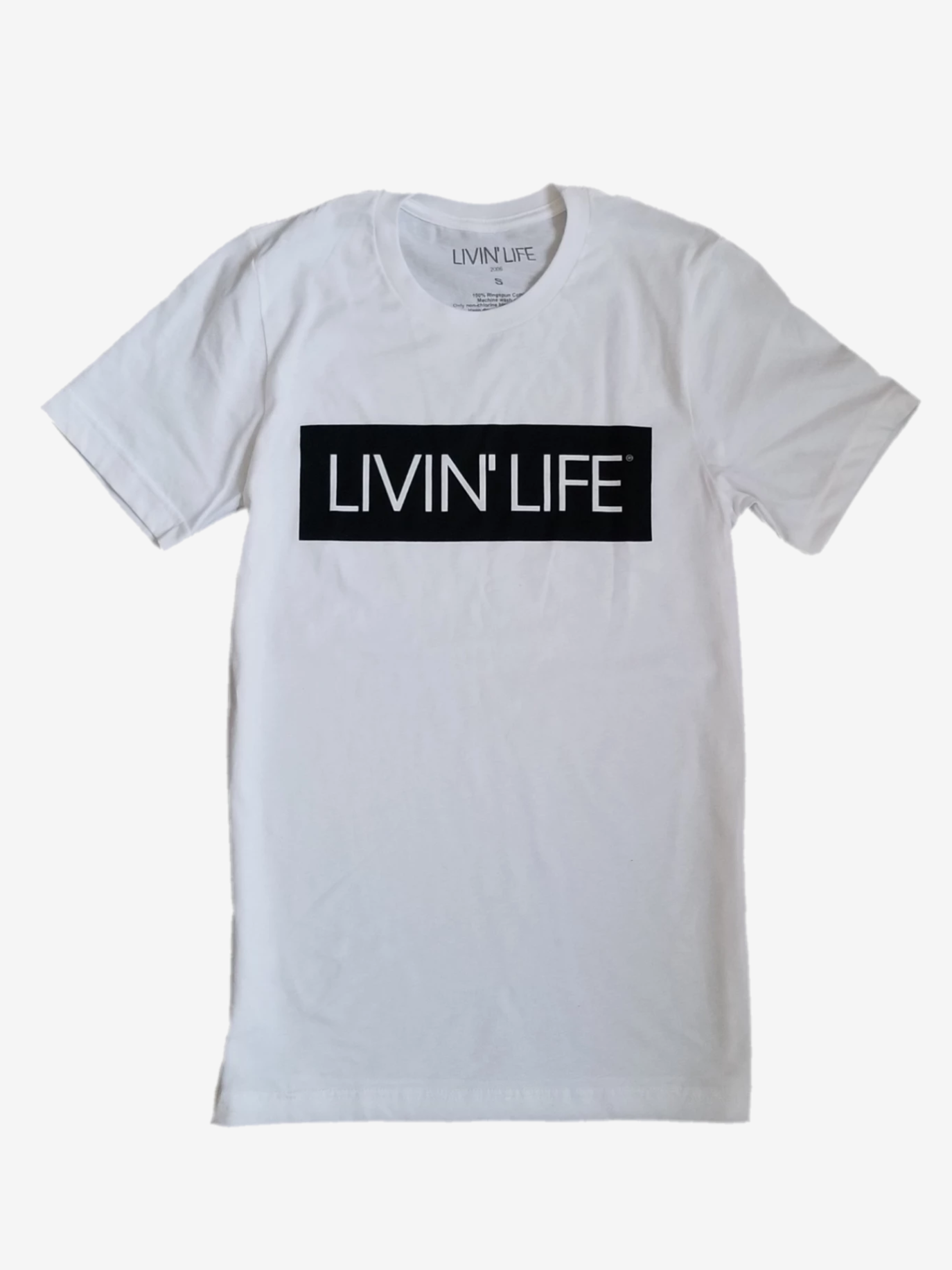 LIVIN' LIFE® Signature T-Shirt (White/Black)