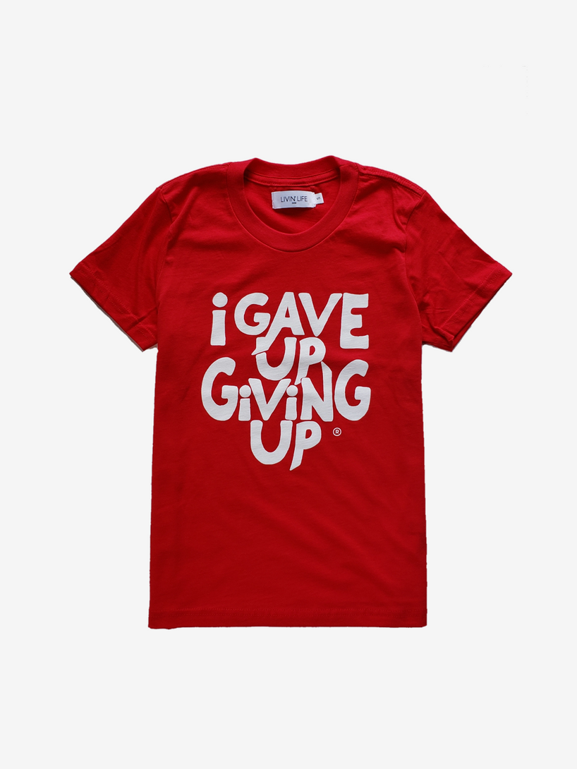 Kids' I Gave Up Giving Up® Tee (Red)