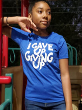 Load image into Gallery viewer, Kids' I Gave Up Giving Up® Tee (Royal)
