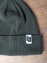 Load image into Gallery viewer, Cotton Knit Beanie (Olive)