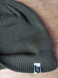 Cotton Knit Beanie (Olive)