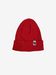 Cotton Knit Beanie (Red)