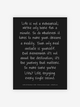 "Load image into Gallery viewer, ""LIVIN' LIFE® Manifesto"" Print (Black/Silver)"