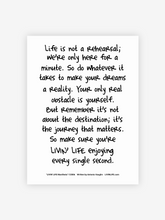 "Load image into Gallery viewer, ""LIVIN' LIFE® Manifesto"" Print (White/Black)"