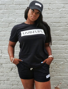 LIVIN' LIFE® Signature T-Shirt (Black/White)