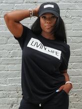 Load image into Gallery viewer, LIVIN' LIFE® Signature T-Shirt (Black/White)