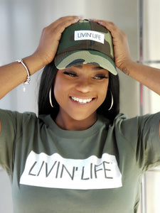 LIVIN' LIFE® Signature T-Shirt (Military Green/White)