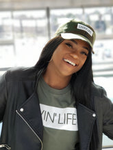 Load image into Gallery viewer, LIVIN' LIFE® Signature T-Shirt (Military Green/White)