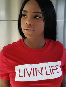 LIVIN' LIFE® Signature Tee (Red/White)