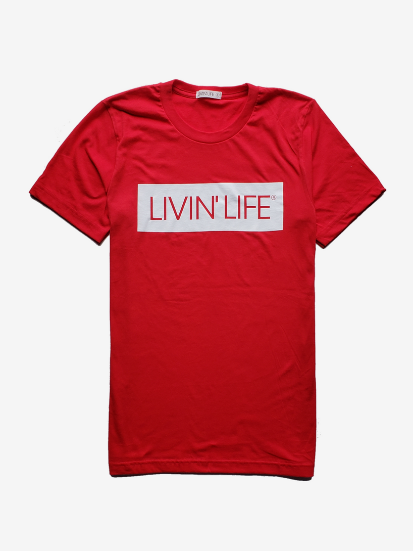 LIVIN' LIFE® Signature T-Shirt (Red/White)