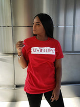 Load image into Gallery viewer, LIVIN' LIFE® Signature Tee (Red/White)
