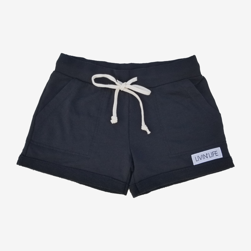 LIVIN' LIFE French Terry Short Black