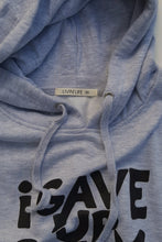 "Load image into Gallery viewer, ""I Gave Up Giving Up®"" Hoodie (Heather Grey/Black)"