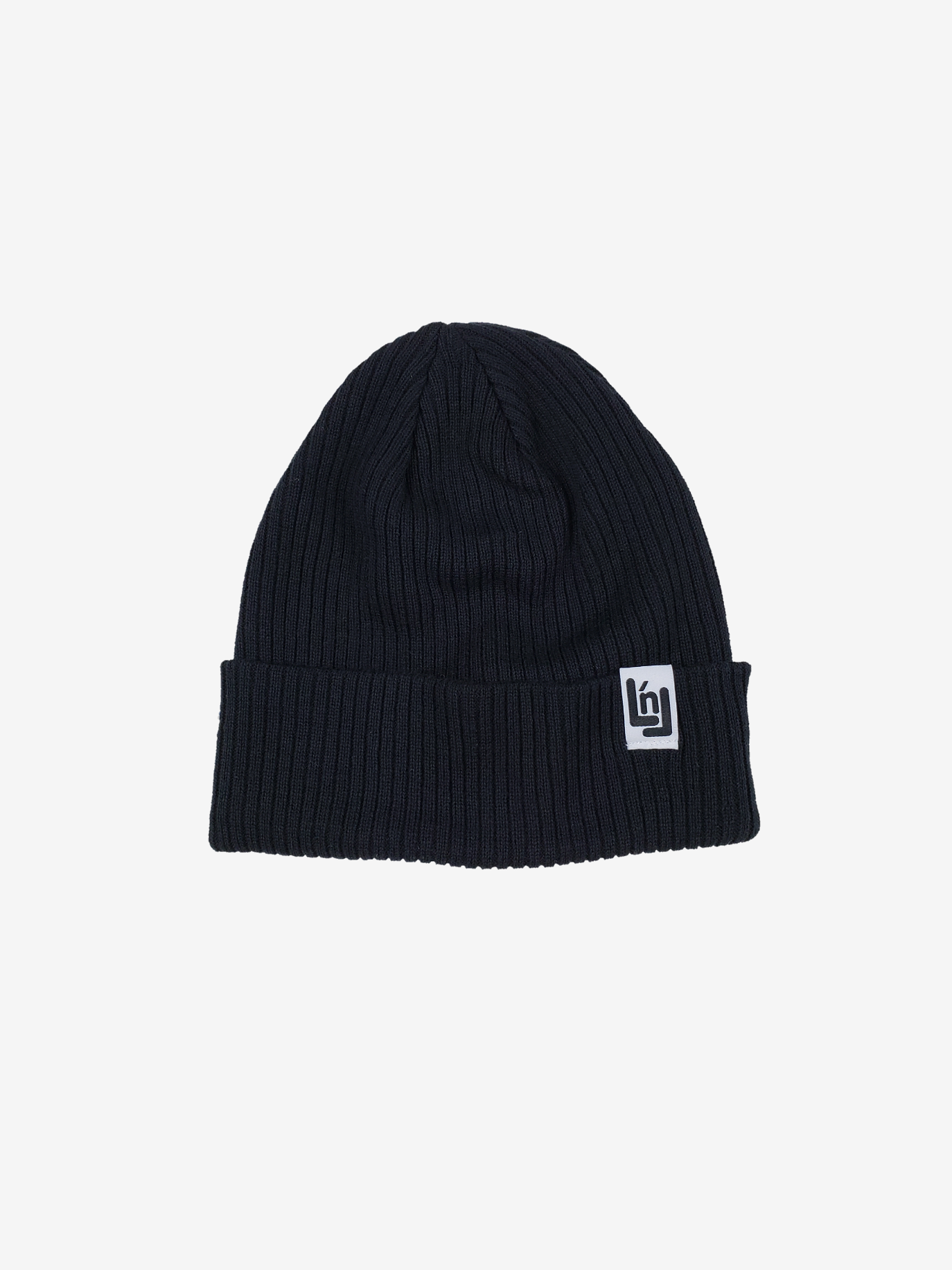 Cotton Knit Beanie (Black)