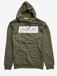 Signature Hoodie (Military Green/White)