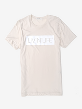 Load image into Gallery viewer, LIVIN' LIFE® Signature T-Shirt (Bone/White)