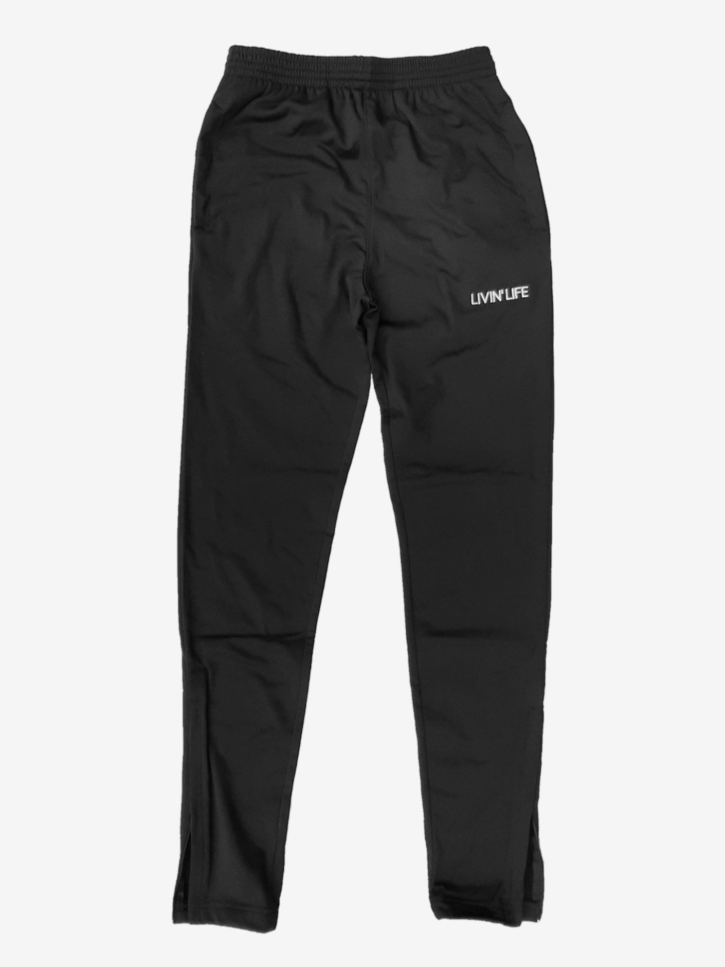 Embroidered Tricot Track Pants (Black)