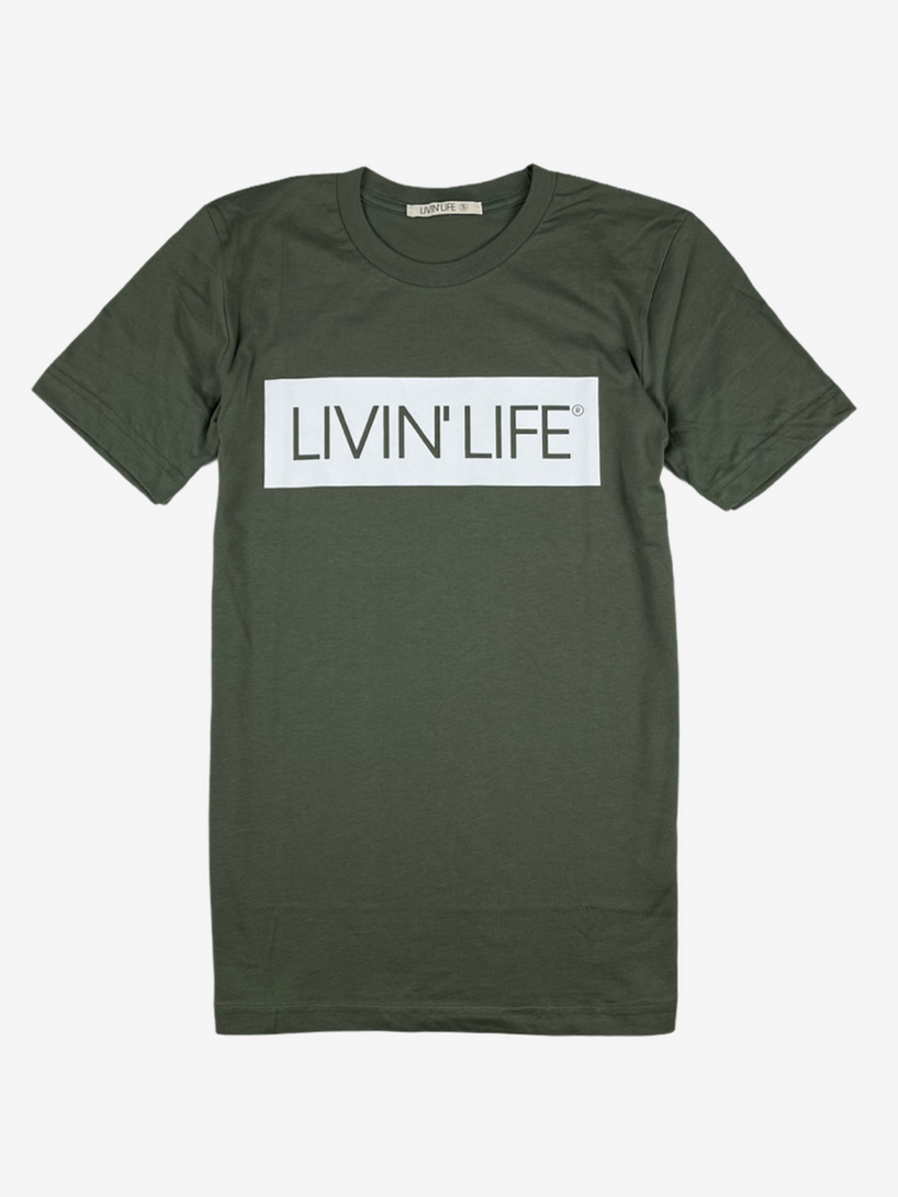 Signature Tee (Military Green/White)