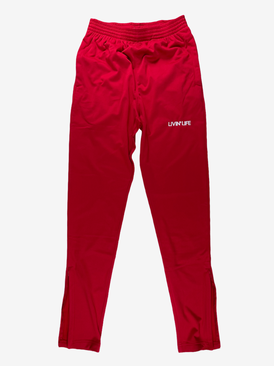 Embroidered Tricot Track Pants (Red)
