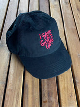 "Load image into Gallery viewer, ""I Gave Up Giving Up®"" Hat (Black/Red)"