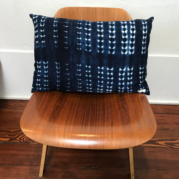 Petel Indigo Patterned Pillow