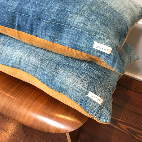 Petel Indigo and Mustard Pillow