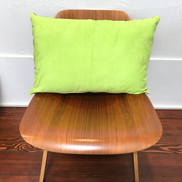 Petel Lime Green & Indigo Pillow