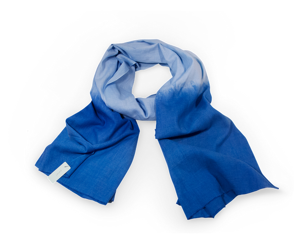 Cotton Indigo Hand Dyed Petel scarf