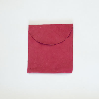 Suede Leather Pouch (Pink)