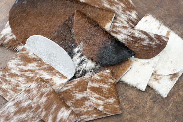 Suede and Cowhide Leather Pouch