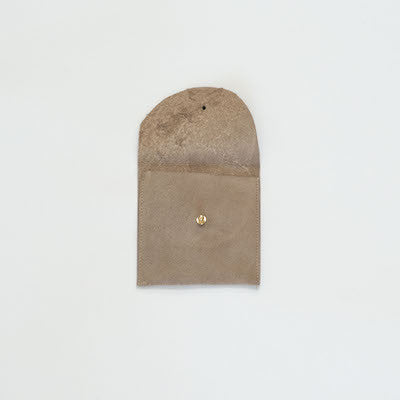 Suede Leather Pouch (Tan)
