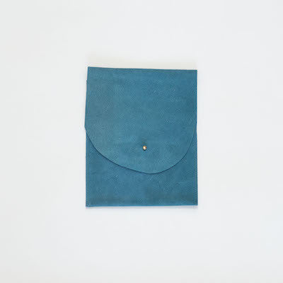 Suede Leather Pouch (Blue)