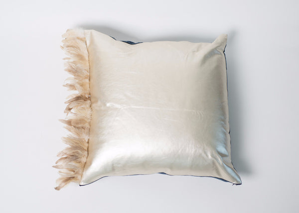Petel Pillow (Gold Leather)