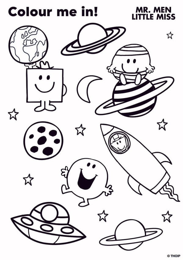 Mr Men Colouring Sheets