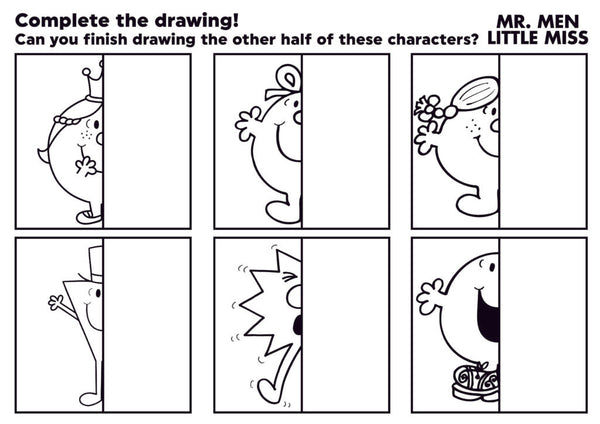 Complete the Mr. Men & Little Miss drawings