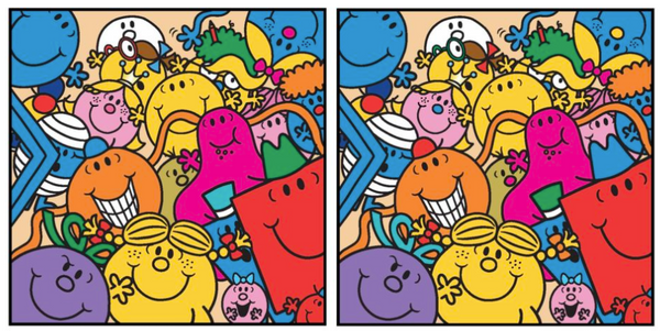Mr. Men Little Miss Spot The Difference