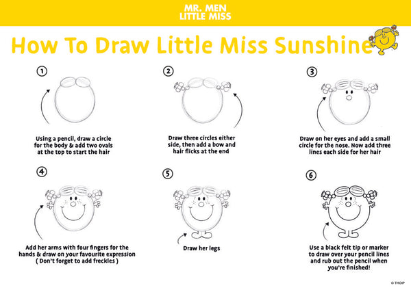 How To Draw Little Miss Sunshine