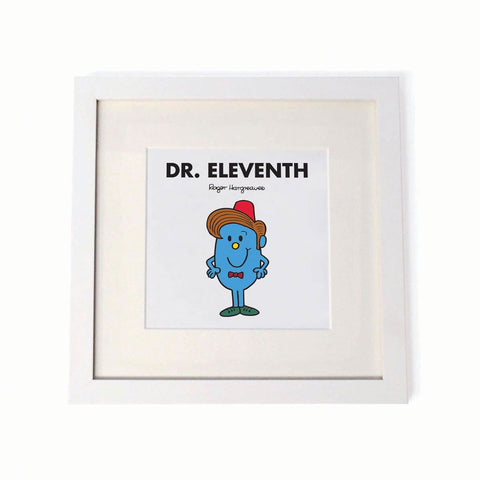 Dr. Eleventh White Framed Print