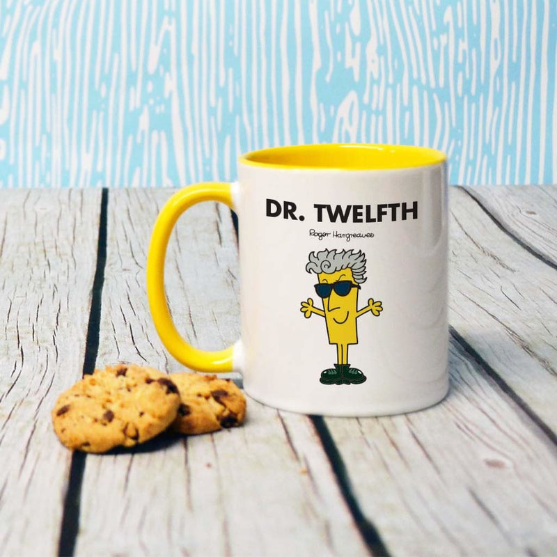 Dr. Twelfth Large Porcelain Colour Handle Mug (Lifestyle)