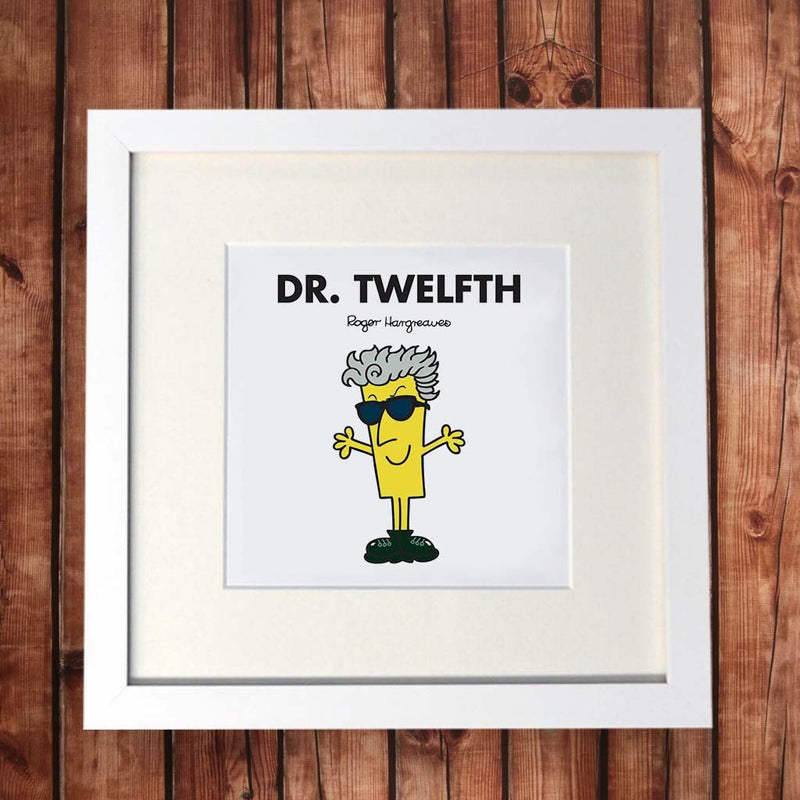 Dr. Twelfth White Framed Print (Lifestyle)