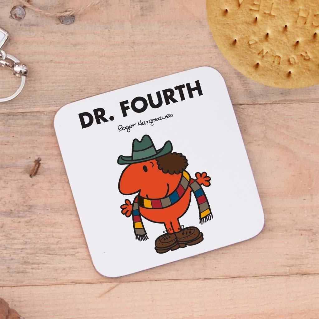 Four Doctors Cork Coaster Set (Dr Fourth)