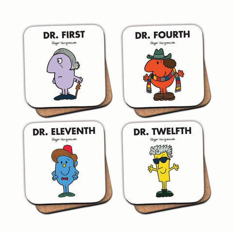 Four Doctors Cork Coaster Set