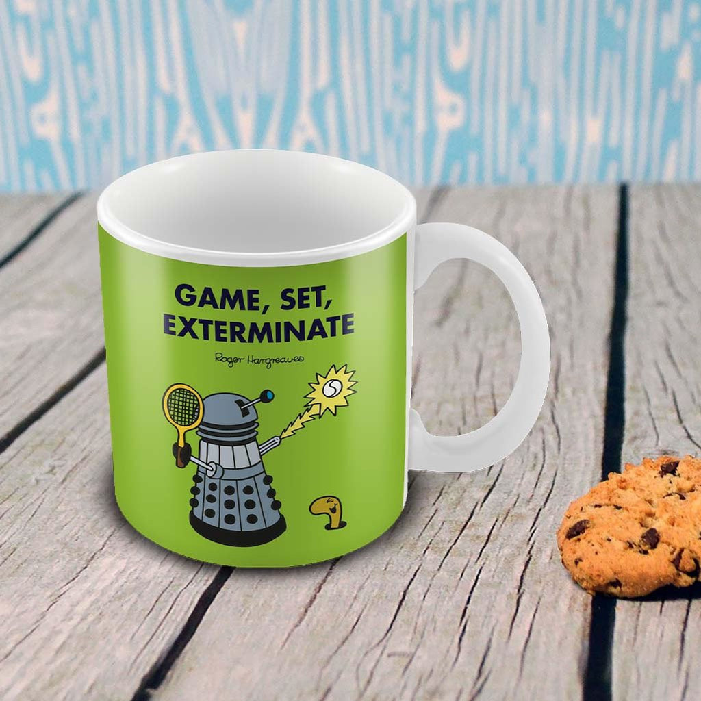 Game, Set, Exterminate Porcelain Mug (Lifestyle)