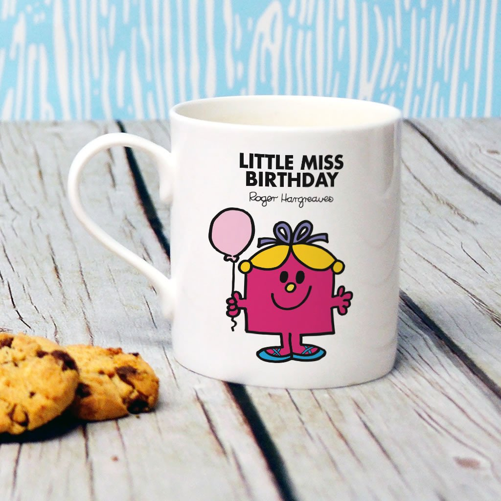 Little Miss Birthday Bone China Mug (Lifestyle)