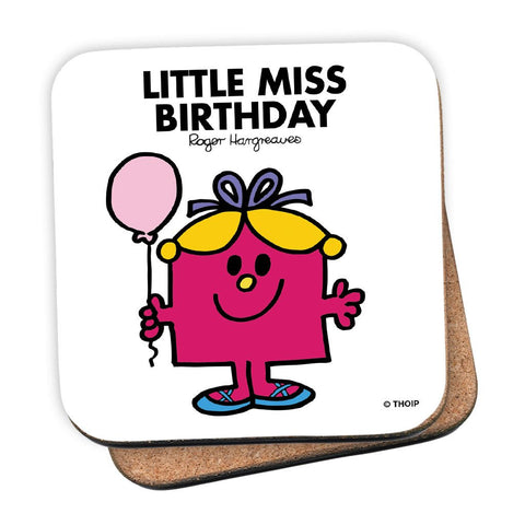 Little Miss Birthday Cork Coaster