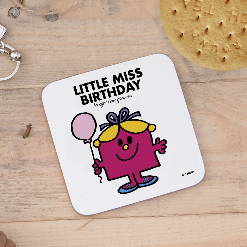 Little Miss Birthday Cork Coaster (Lifestyle)