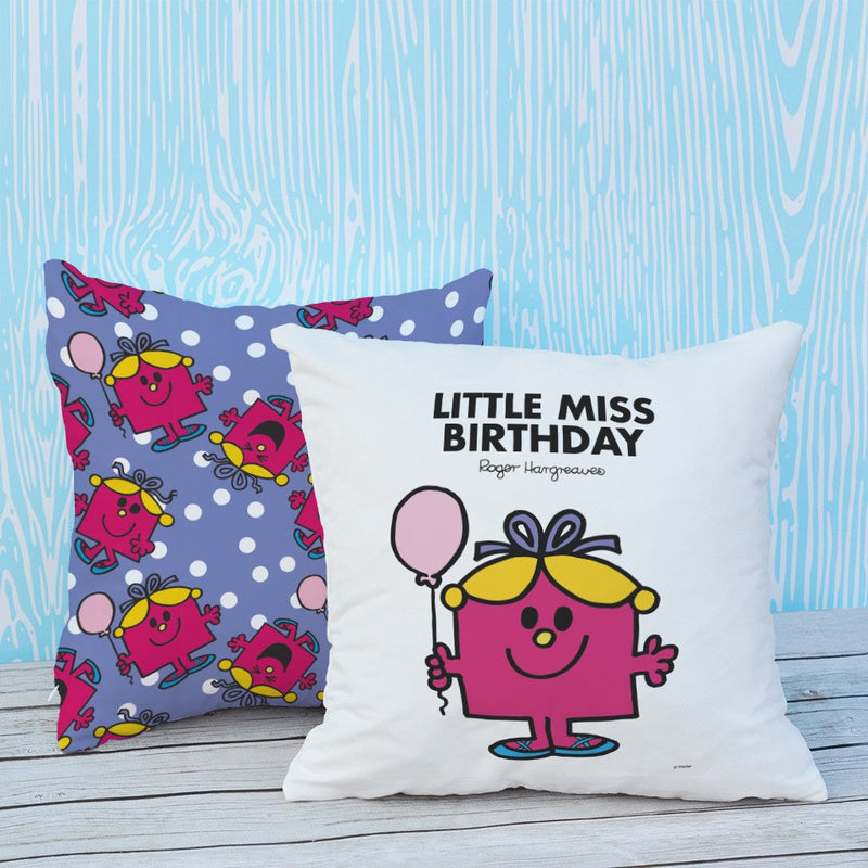 Little Miss Birthday Micro Fibre Cushion (Lifestyle)