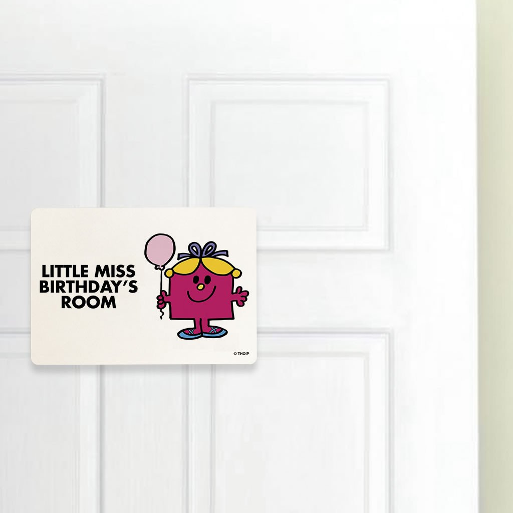 Little Miss Birthday Door Plaque (Lifestyle)