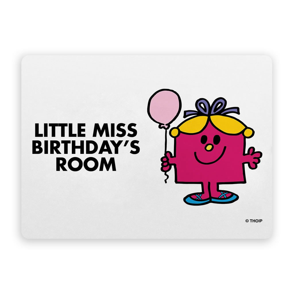 Little Miss Birthday Door Plaque